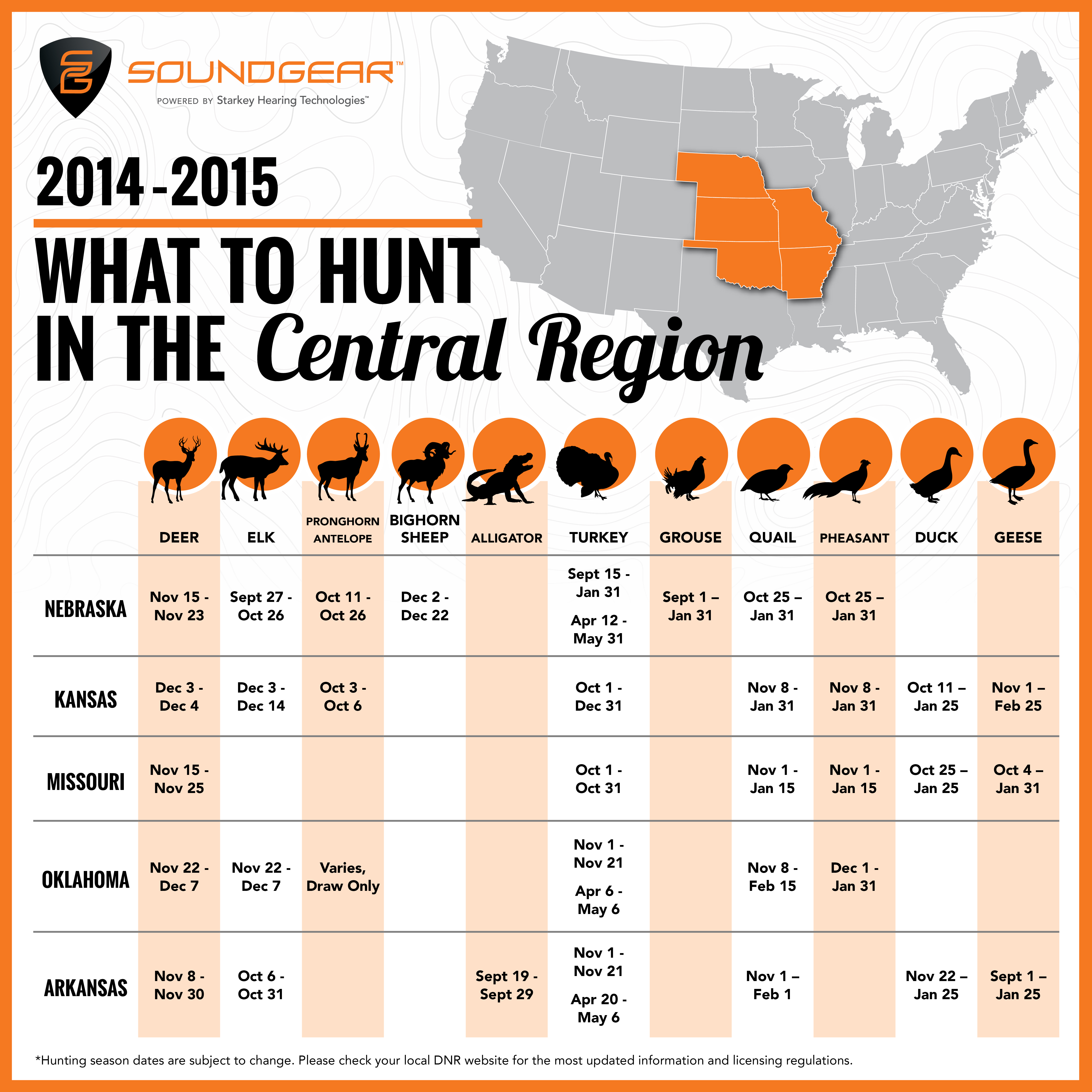 Central Region Hunting Map